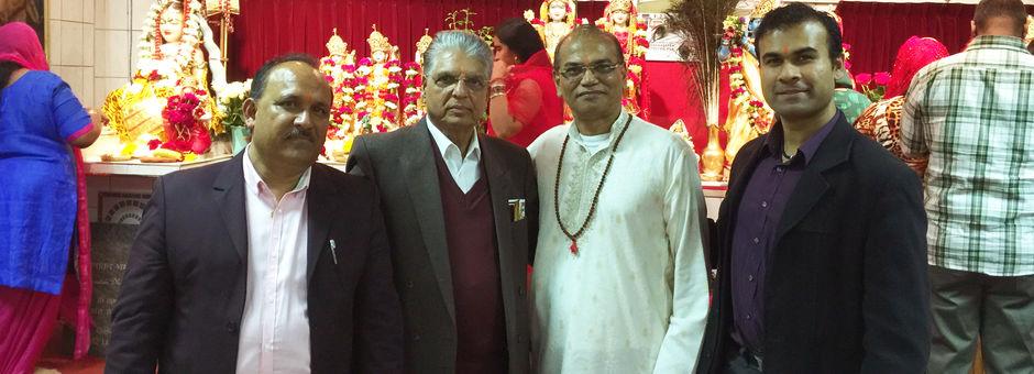 Mahasabha bezoekt de Dew Mandir in Den Haag