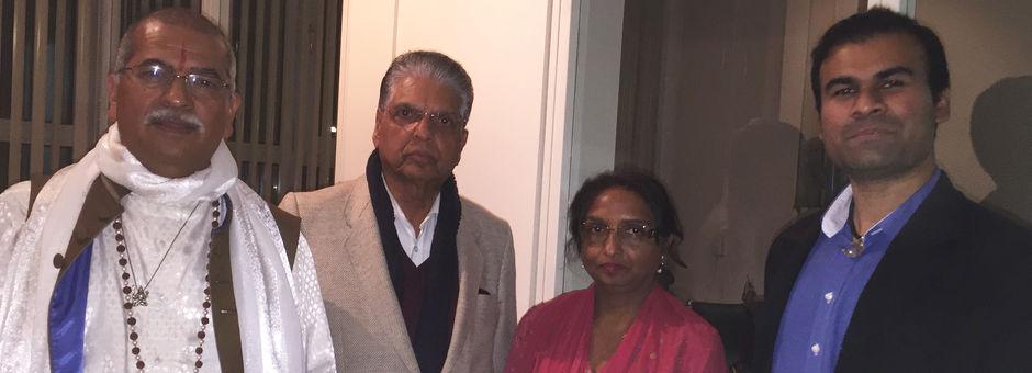 Shri Sanatan Dharm Mahasabha bezoekt de Dewidhaam Mandir Amsterdam
