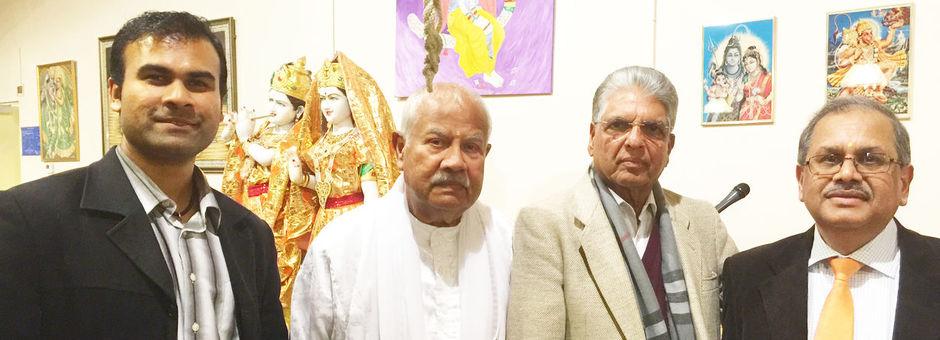 Mahasabha bezoekt de Radhe Krishna Mandir in Amsterdam