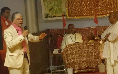 Mahasabha Voorzitter bezoekt de Shri Vishnu Mandir Almere