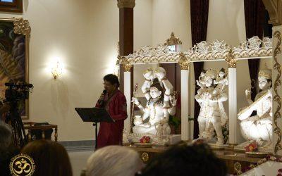 Mahasabha aanwezig bij de eerste Yagya van de Shri Vishnu Mandir Almere