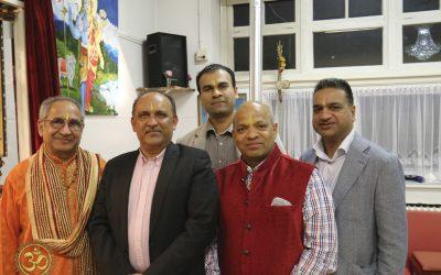 Mahasabha bezoekt de Shri Shiv Mandir in Eindhoven tijdens Navratri